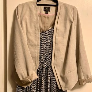 Beige fitted blazer
